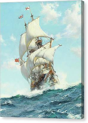 Mayflower II - Detail Canvas Print by Montague DawsonMayflower II