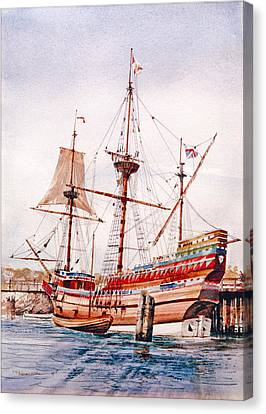 Mayflower II  Canvas Print by P Anthony Visco