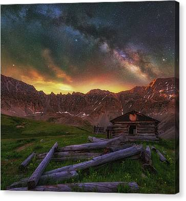 Canvas Print featuring the photograph Mayflower Milky Way by Darren White