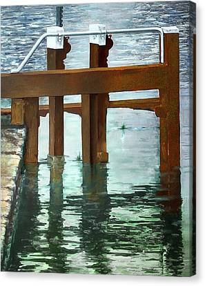 Maynooth Lock Canvas Print by Marty Garland