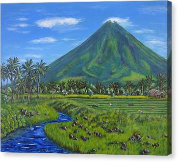 Mayon Volcano Canvas Print