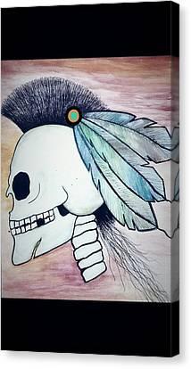 Missing Teeth Canvas Print - Mayordomo Pablo by Dm Fhm