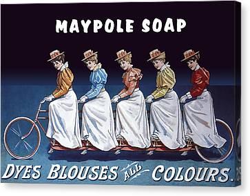 Maypole Soap Retro Vintage Ad 1890's Canvas Print by Daniel Hagerman