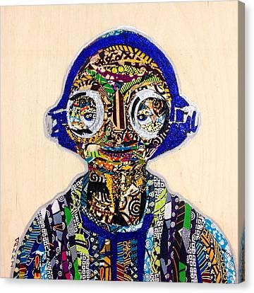 Canvas Print featuring the tapestry - textile Maz Kanata Star Wars Awakens Afrofuturist Colection by Apanaki Temitayo M