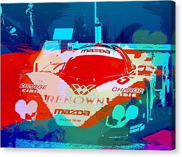 Mazda Le Mans Canvas Print by Naxart Studio