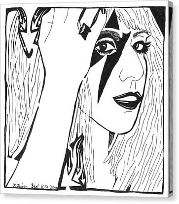 Maze Of Lady Gaga Canvas Print by Yonatan Frimer Maze Artist