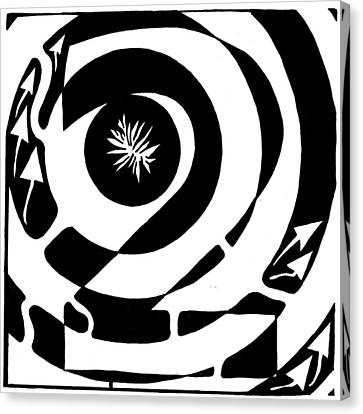 Maze Of Number Two Canvas Print by Yonatan Frimer Maze Artist