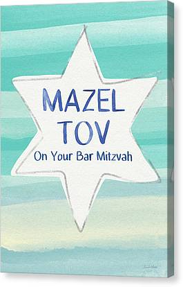 Mazel Tov On Your Bar Mitzvah-  Art By Linda Woods Canvas Print by Linda Woods