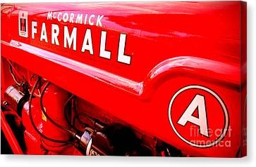 Mccormick Farmall A Canvas Print by Olivier Le Queinec
