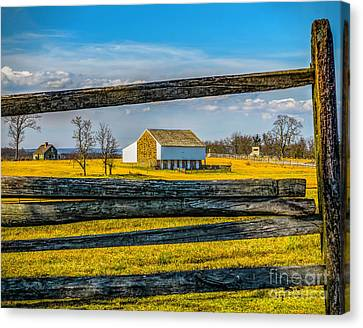 Canvas Print featuring the photograph Mc Pherson Barn - Gettysburg National Park by Nick Zelinsky
