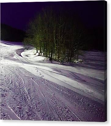 Canvas Print featuring the photograph Mccauley Evening Snowscape by David Patterson