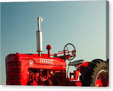 Red Skies Canvas Print - Mccormick-deering Farmall M by Todd Klassy