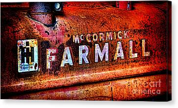 Mccormick Farmall Grunge Canvas Print by Olivier Le Queinec