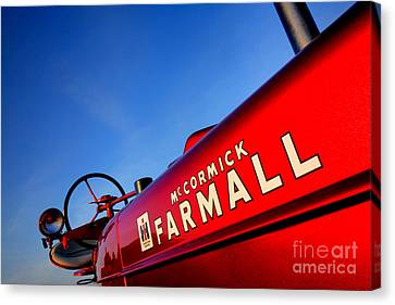 Mccormick Farmall Red Beauty Canvas Print by Olivier Le Queinec