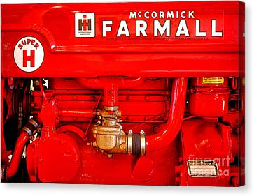 Mccormick Farmall Super H Canvas Print by Olivier Le Queinec