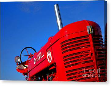 Mccormick Farmall Super M Canvas Print by Olivier Le Queinec
