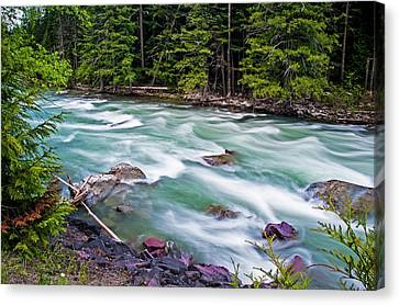 Canvas Print featuring the photograph Mcdonald Creek by Gary Lengyel