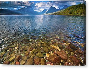 Mcdonald Lake Colors Canvas Print by Greg Nyquist