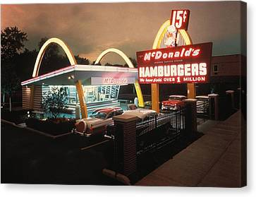 Mcdonalds 1 Store Museum Canvas Print by Everett