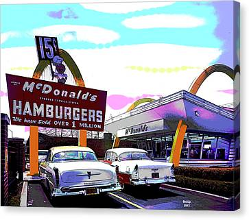 Mcdonald's Chicago Canvas Print by Charles Shoup