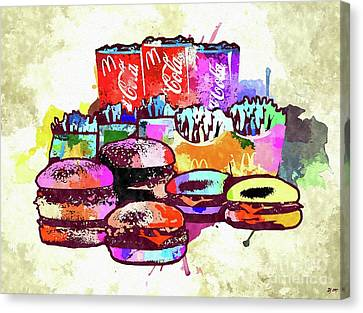 Hamburger Canvas Print - Mcdonalds Family  by Daniel Janda