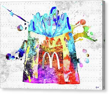 Hamburger Canvas Print - Mcdonald's Fries by Daniel Janda