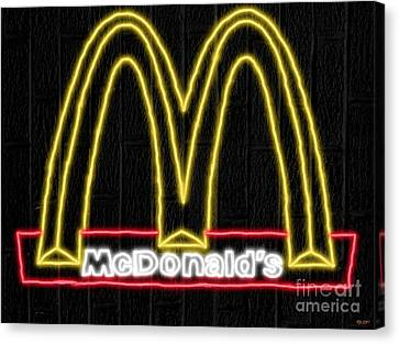 Mcdonald's Neon Canvas Print by Daniel Janda