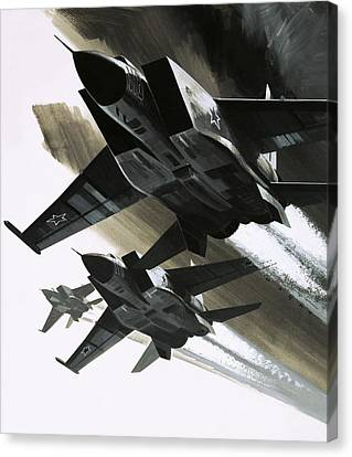 Mcdonnell Douglas F15 Eagle Jet Fighter Canvas Print by Wilf Hardy