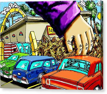 Hamburger Canvas Print - Mcds Takeout by Gregg Dutcher