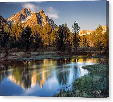 Majesty Canvas Print - Mcgown Peak Sunrise  by Leland D Howard