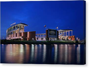 Mclane Stadium Evening Canvas Print by Stephen Stookey