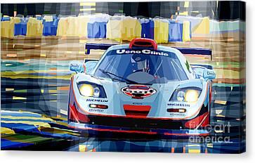 Mclaren Bmw F1 Gtr Gulf Team Davidoff Le Mans 1997 Canvas Print by Yuriy  Shevchuk