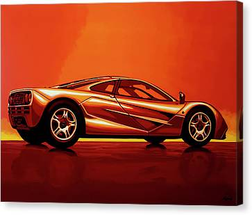 Bmw Vintage Cars Canvas Print - Mclaren F1 1994 Painting by Paul Meijering