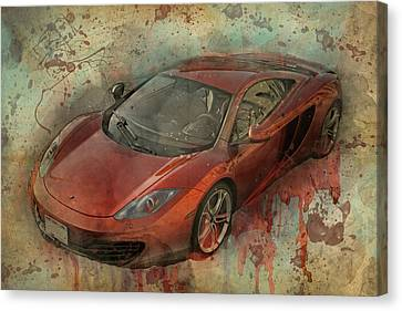 Canvas Print featuring the photograph Mclaren Graffiti by Joel Witmeyer
