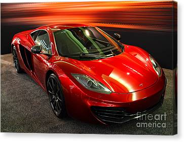 Canvas Print featuring the photograph Mclaren Mph-12c Sportscar by Wingsdomain Art and Photography