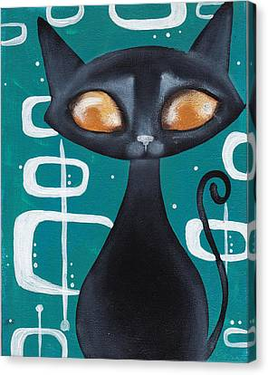 Mcm Cat Canvas Print by Abril Andrade Griffith