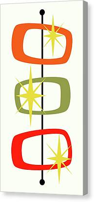 Modern Canvas Print - Mcm Shapes 1 by Donna Mibus