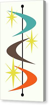 Mcm Shapes 2 Canvas Print by Donna Mibus