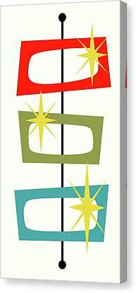 Mcm Shapes 3 Canvas Print by Donna Mibus