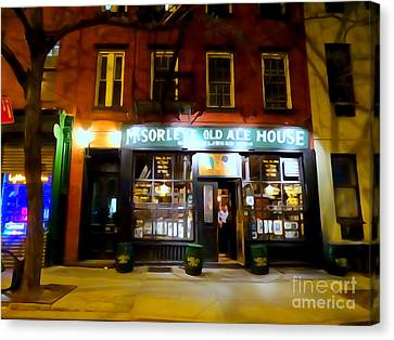 Mcsorleys At Night Canvas Print by Ed Weidman