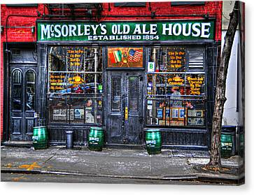 East Village Canvas Print - Mcsorley's  In Color by Randy Aveille