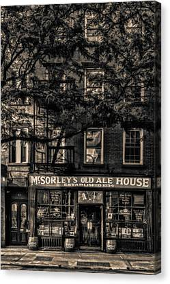 New York Canvas Print - Mcsorley's Old Ale House Nyc Bw by Susan Candelario