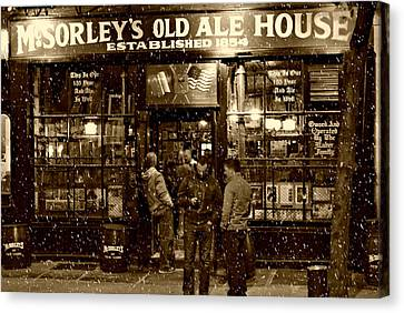 East Village Canvas Print - Mcsorley's Old Ale House by Randy Aveille