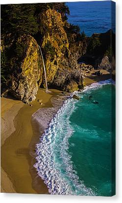 Mcway Cove Beach Canvas Print by Garry Gay
