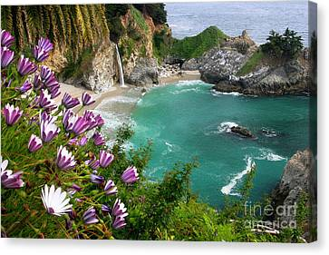 Burned Canvas Print - Mcway Falls by Buck Forester