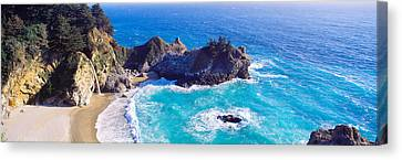Mcway Falls, Mcway Cove, Julia Pfeiffer Canvas Print by Panoramic Images