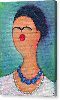 Me And My Blue Pearl Necklace Canvas Print