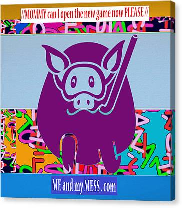 Me And My Mess Dot Com  Kids Room Decorations Canvas Print by Navin Joshi