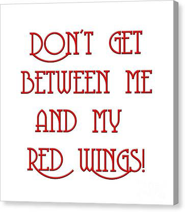Me And My Red Wings 1 Canvas Print by Andee Design