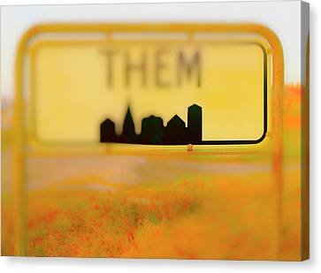 Me And Them Canvas Print by Jan W Faul